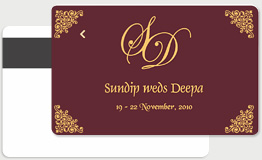 Wedding key card